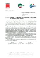 Lettera alla Presidente Tesei